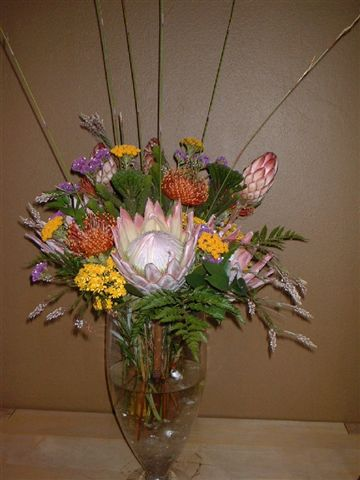 Mixed Protea Vase