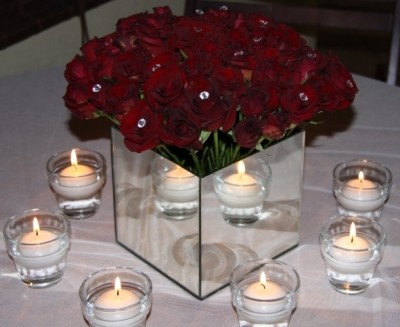 Roses with Mirros and Candles